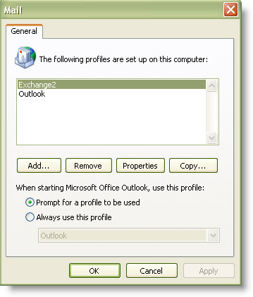 Outlook Profile Auto Complete Restore