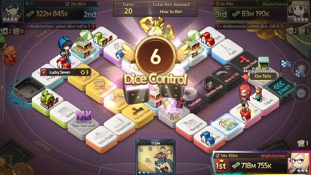 Game of Dice - Dice Control