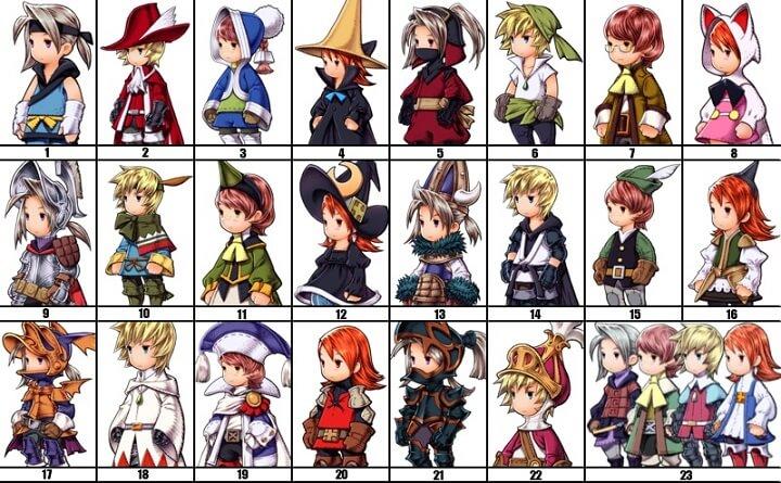 Final Fantasy - Classes