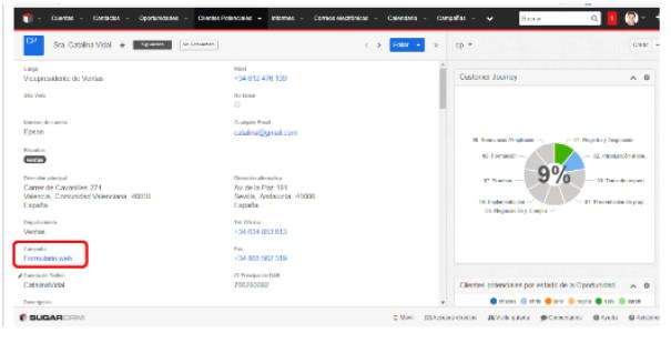 Formularios Web de SugarCRM