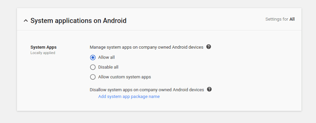 System Apps