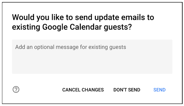 Notificaciones calendario de Google