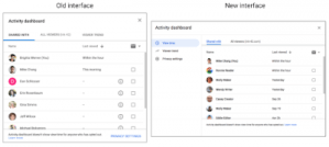 activity dashboard old vs new