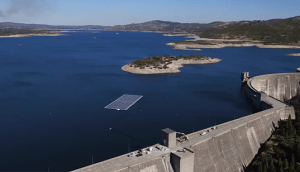 The first hybrid FPV and hydroelectric dam power plant system