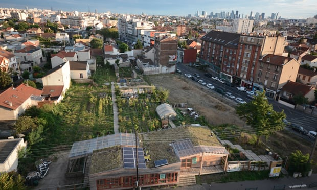 The Agrocité project in the suburbs of Paris, including a micro-farm, recycling plant and cooperative eco-housing. Photograph: Atelier d'Architecture Autogérée