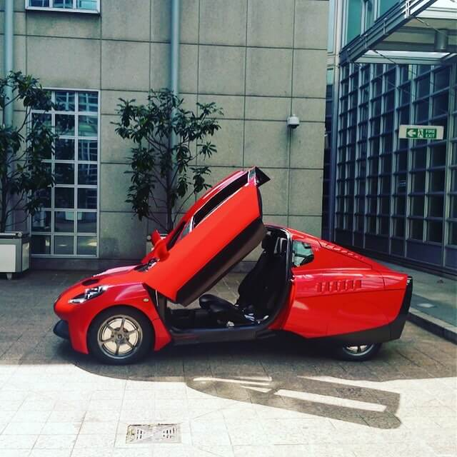 A red version of the Rasa car