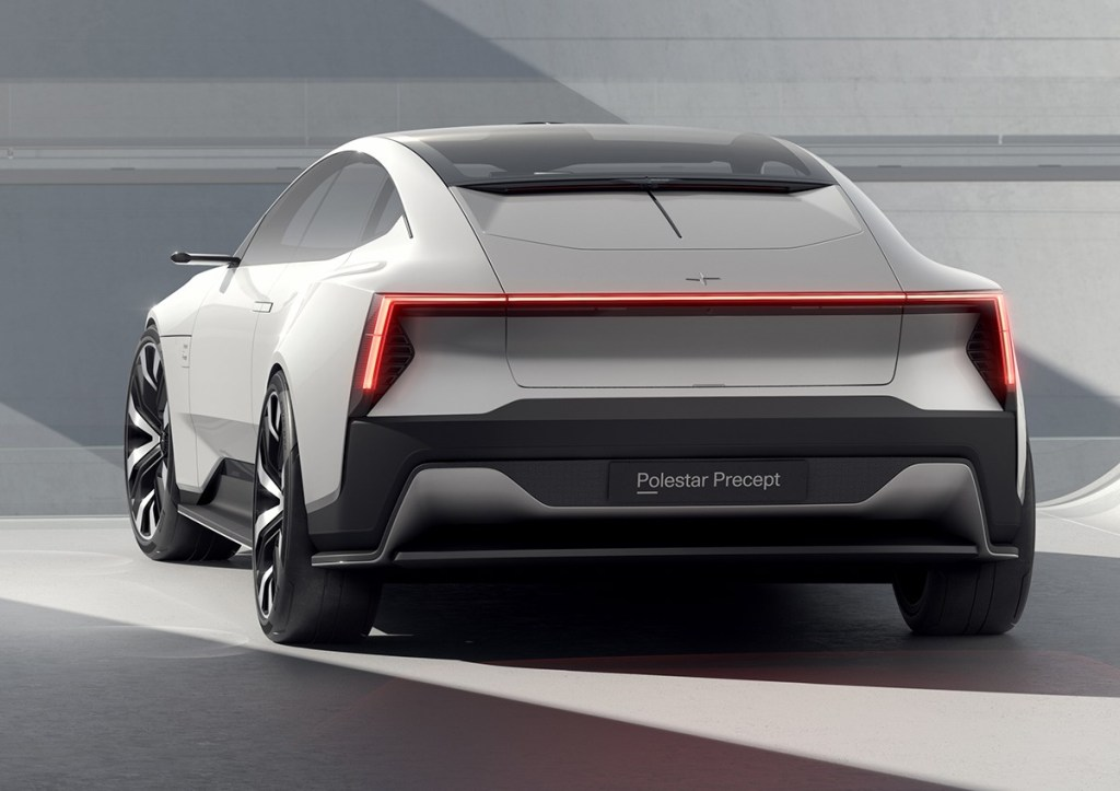 Windowless rear end on the Polestar Precept
