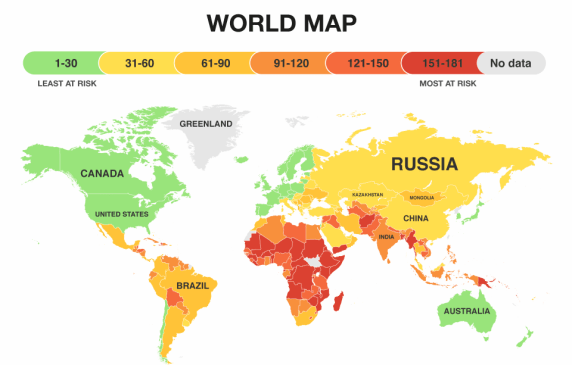 These Maps Show Which Countries Could Survive Climate Change