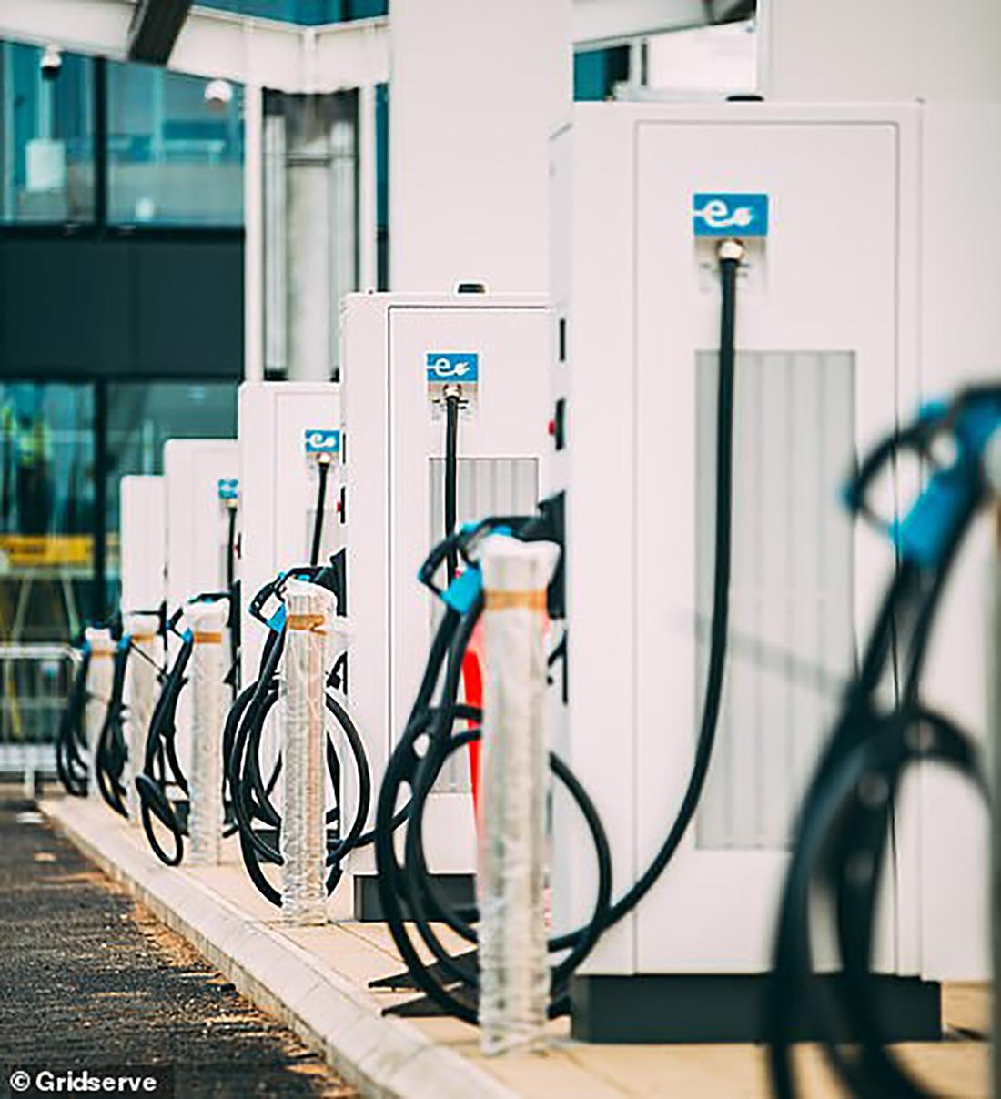 英国首个纯电动汽车充电站即将完工
