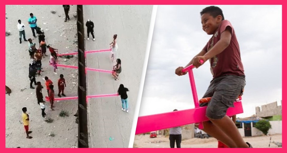 Pink Seesaws On US-Mexico Border Wins Design Of The Year 2020