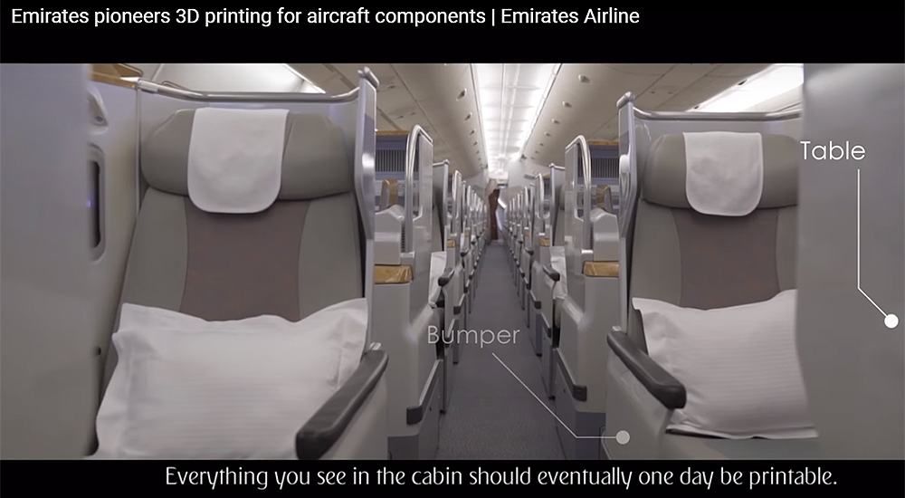Emirates initiates 3D printing of cabin parts using Selective Laser Sintering