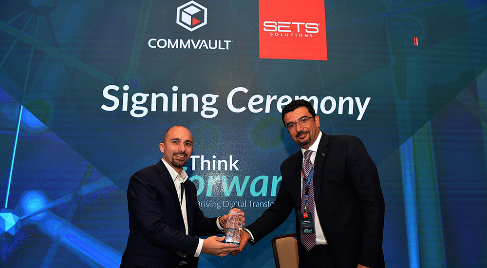 Commvault appoints SETS authorised Levant partner for backup, recovery, cloud