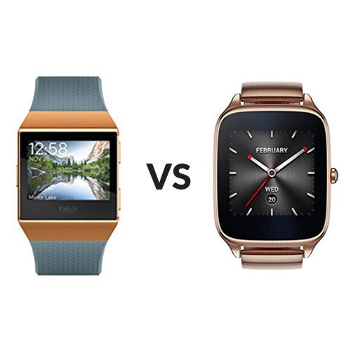 Fitbit Ionic vs Asus Zenwatch2