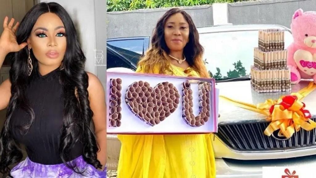 BBNaija star, Nina buys her mother a car to celebrate 60th birthday (video)