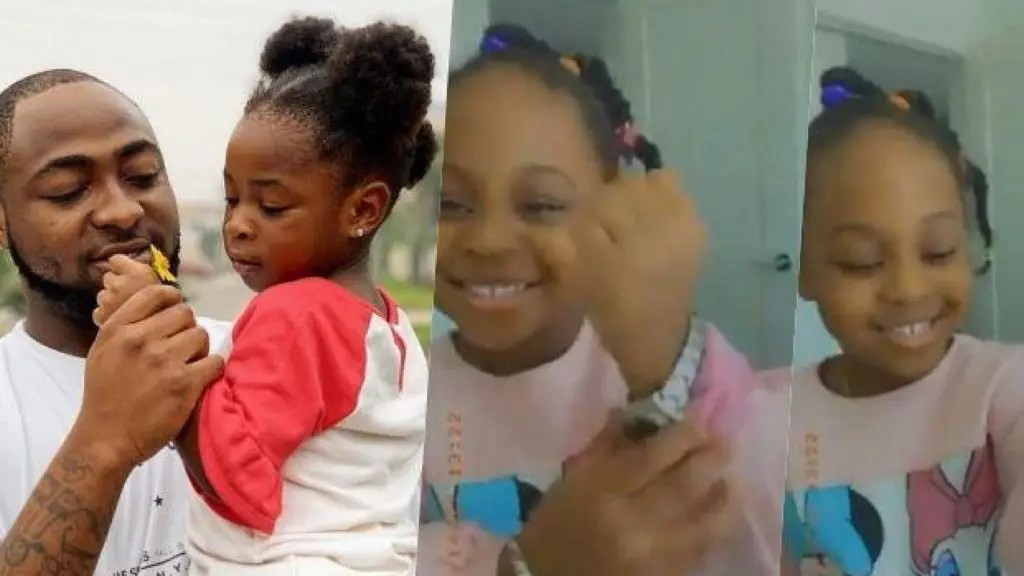 """_My daughter cracks me up"""" – Davido reveals after gifting Hailey expensive Rolex watch (Video)"""
