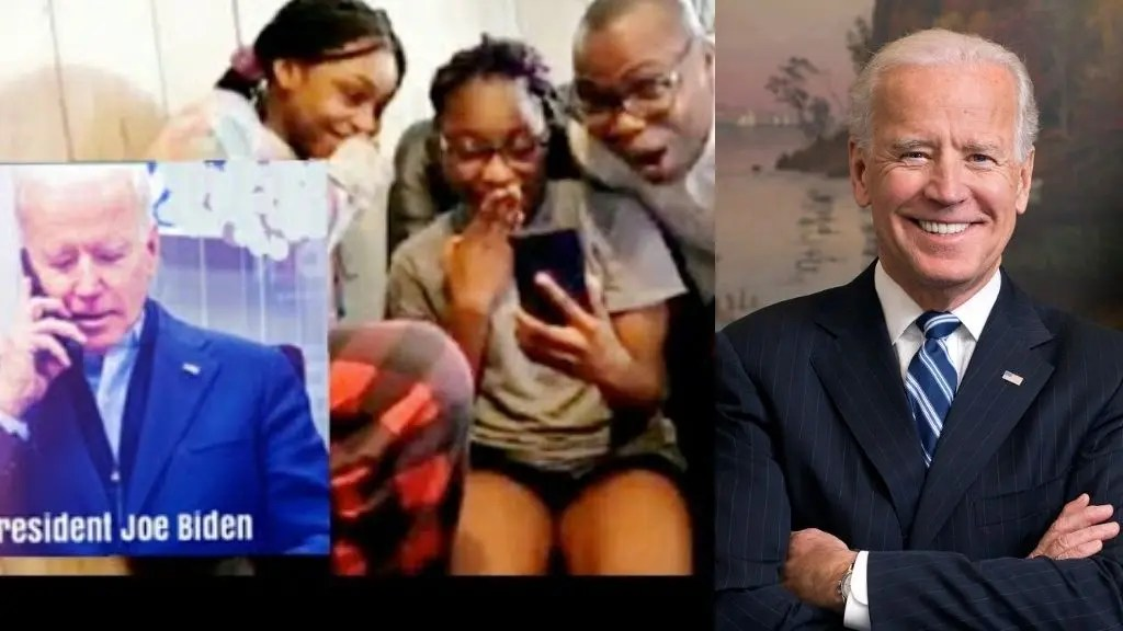 The moment Joe Biden called a Nigerian family to invite them to the White House (Video)
