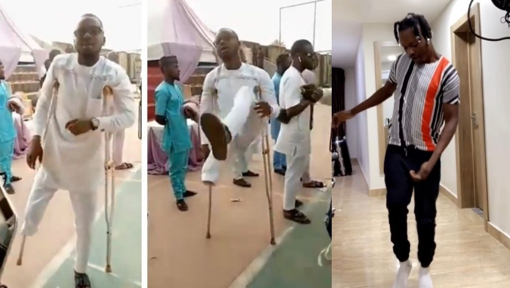 Naira Marley Praises Physically disabled man