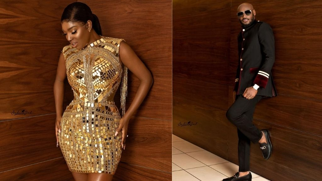 The moment 2Face held his wife, Annie's shoes for her as they left Headies award ceremony (video)