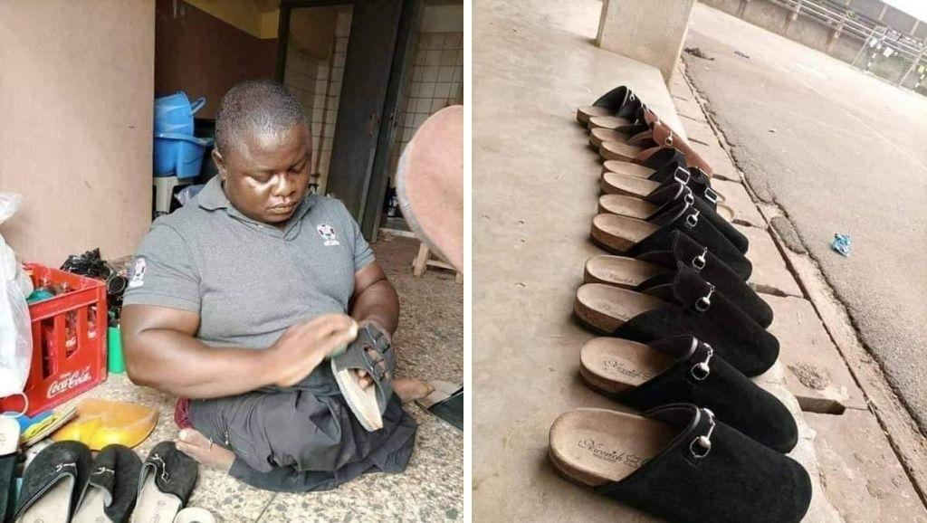 Hardworking disabled man