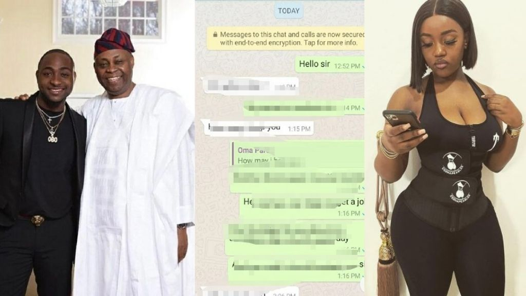 Nigerians react to alleged leaked Chat between Davido and his father about Chioma