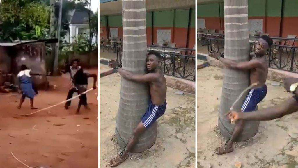Man gets serious beating in public for heartlessly beating his mother