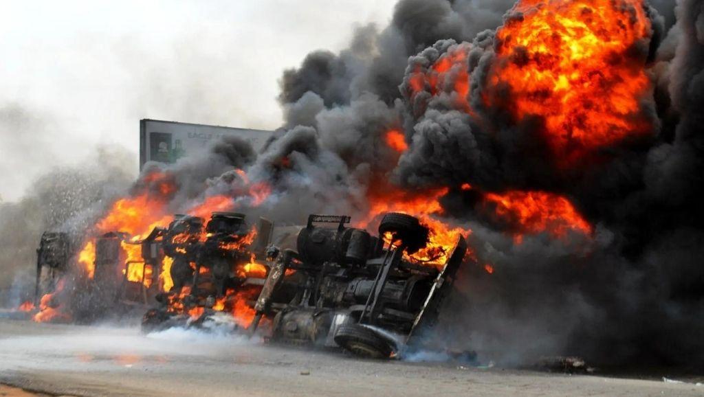 Oil tanker explodes