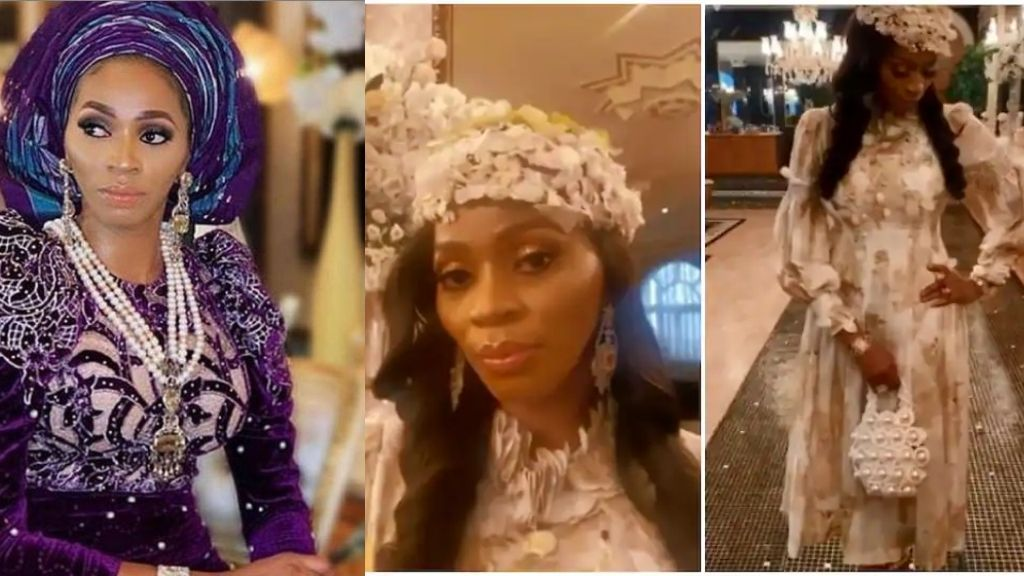 Shade Okoya says as she shows off stunning outfit