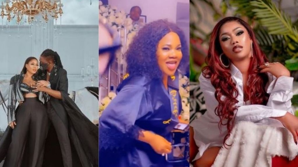 The moment Toyin Abraham shows off dance moves during Toyin Lawani's bridal shower (Video)