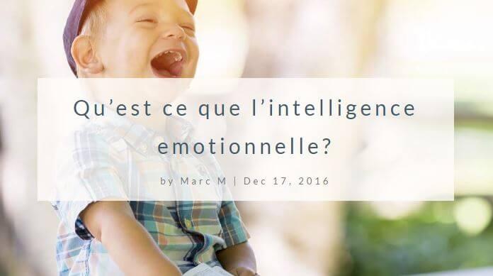 Qu'est ce que l'intelligence emotionnelle