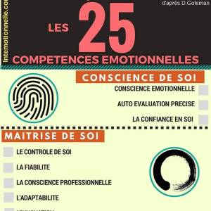 Infographie Top 25 competences intelligences emotionnelles intemotionnelle