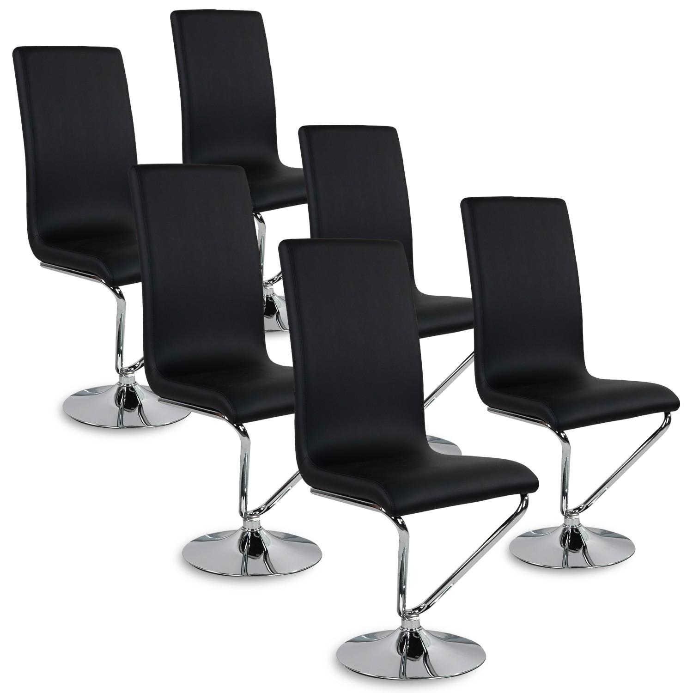lot de 6 chaises design colami noir