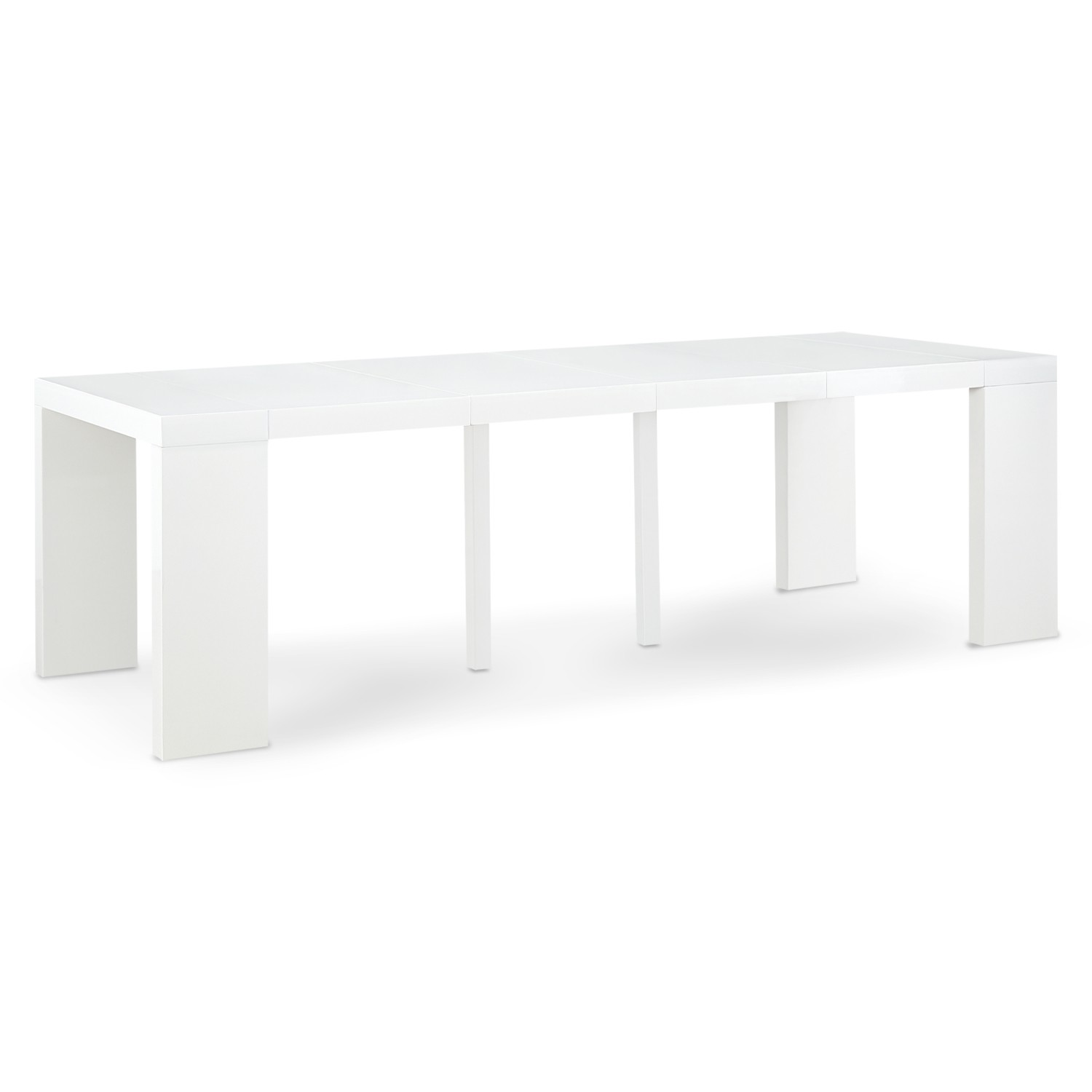 table console extensible oxalys xl blanc laquee