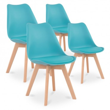 chaise scandinave turquoise pas cher
