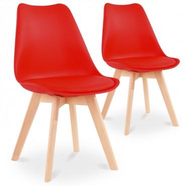 lot de chaises pu design pas cher salle