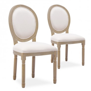 chaise medaillon beige pas cher style