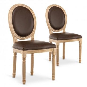 chaise medaillon pas cher style louis xvi
