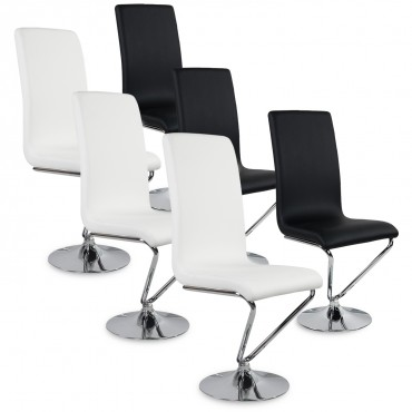 chaise design blanc et noir pas cher