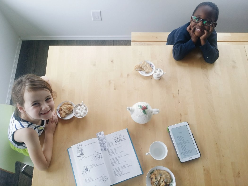 Our Homeschool Month - October in Review - poetry tea time