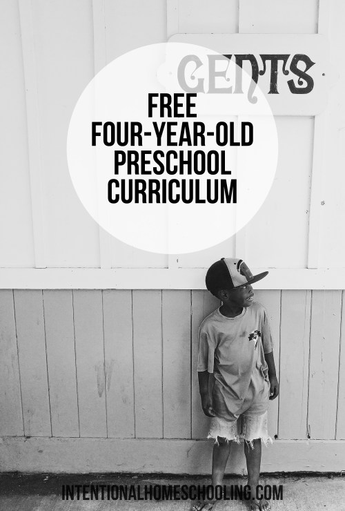 Free Weekly Curriculum for Four-Year-Olds - simple and effective!