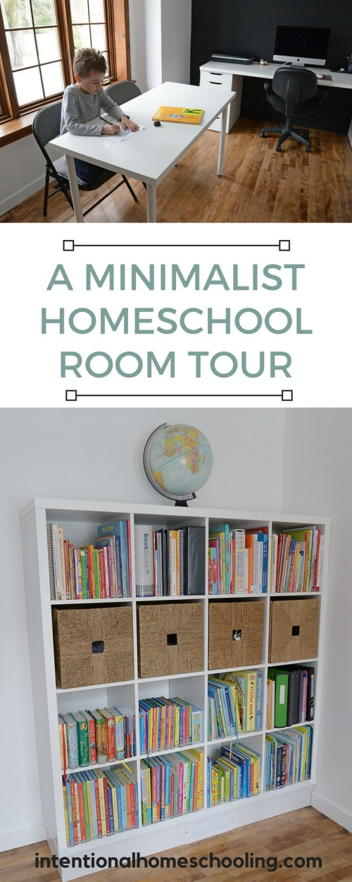 A Minimalist Homeschool Room Tour - Intentional Homeschooling