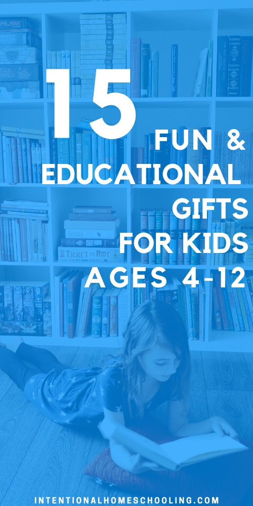 Educational Gift Guide for Kids - great for elementary, ages 4-12