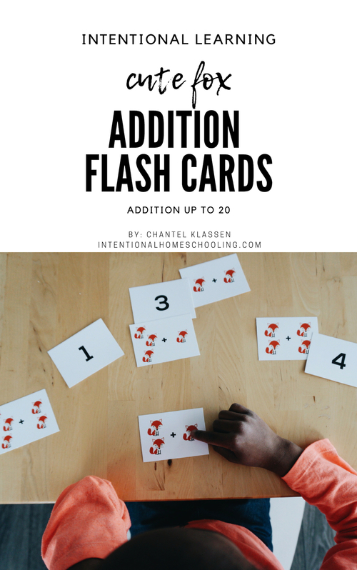 Addition Flash Cards for addition up to 20 - great flash cards for preschool, and cute too!