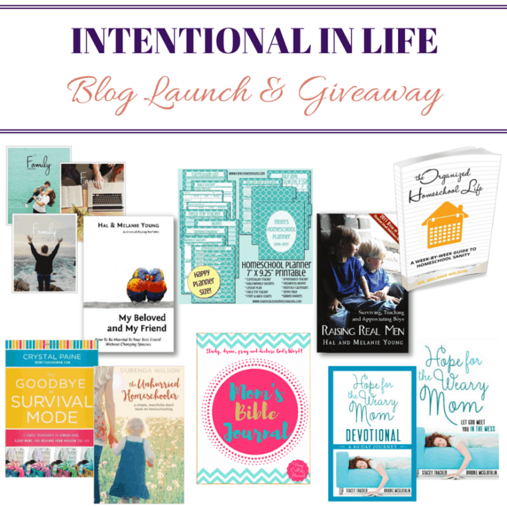 Intentional in Life Blog Launch &  Giveaway