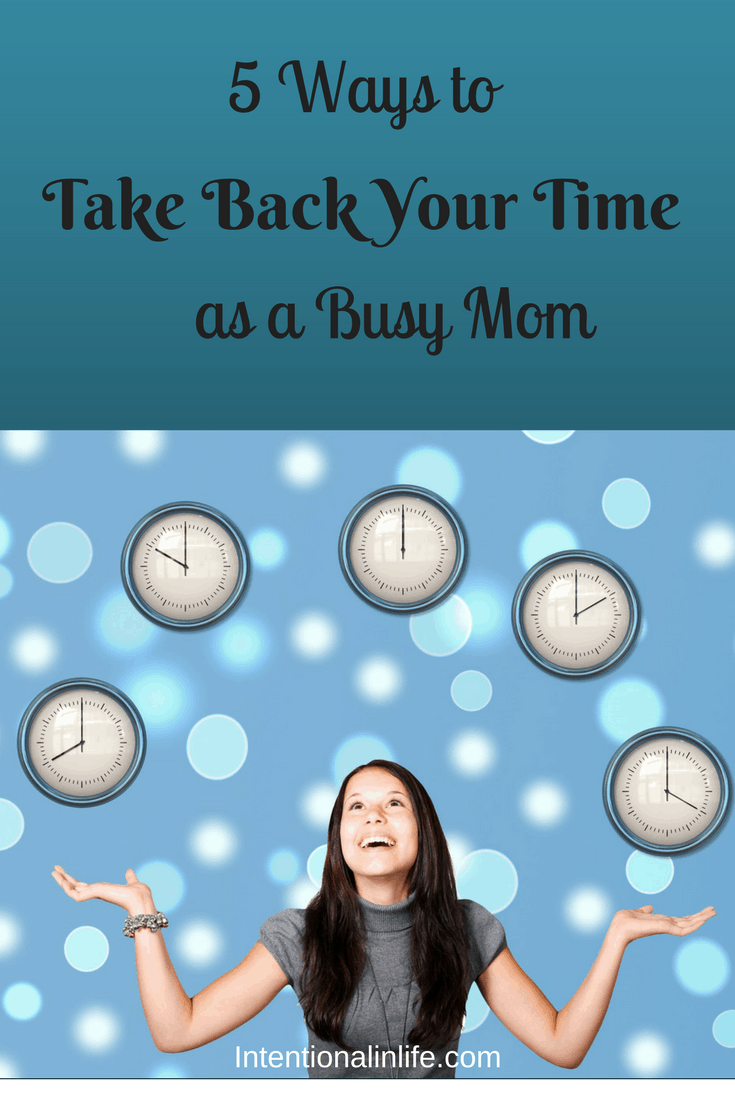 As busy moms we struggle in finding time to do ALL that we need to do. It's a constant struggle, isn't it? I want to tell you that there is hope. Rebekah shares 5 ways to take back your time as a busy mom and it's worth reading!