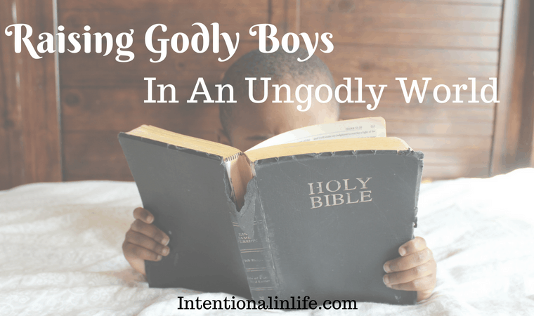 Are You a Mom Trying to Raise Godly Boys in an Ungodly world? If so, you are not alone. Parenting boys is hard work, but parenting and trying to raise godly boys is not just hard work but its HEART work. I have found that in order to be successful in raising godly boys we need to be intentional in our parenting.
