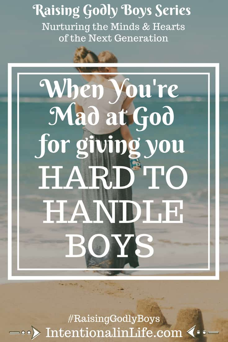 "Have you ever asked yourself the question...""God, couldn't you have given me easier boys?"" If the answer is yes, or if you've questioned His love for you because of your ""hard thing"", you may need to hear this."