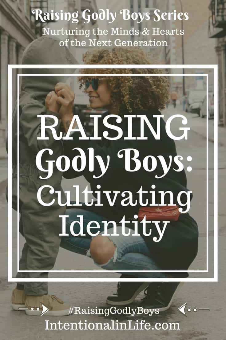 There is no doubt we live in a society dominated by self. How challenging it has become for parents to raise their kids as God-fearing, healthy adults in light of the culture we face today. We have a remarkable calling as parents to raise our boys to see God's true identity for them.