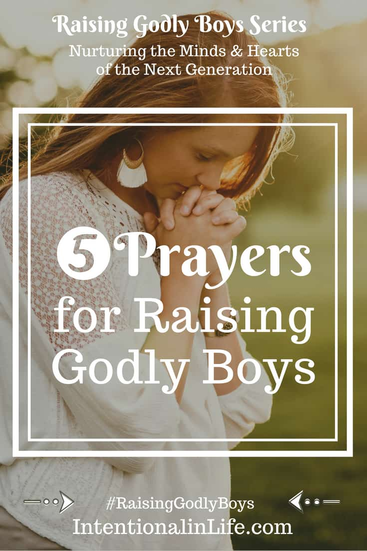 Raising Godly boys in today's world is an achievable but hard task. Thankfully we don't have to go through the parenting journey alone. There are so many areas concerning our children that can be lifted up in prayer. It draws us closer to the Lord and we realize even more how much we need Him. Here are 5 Prayers for Raising Godly Boys.