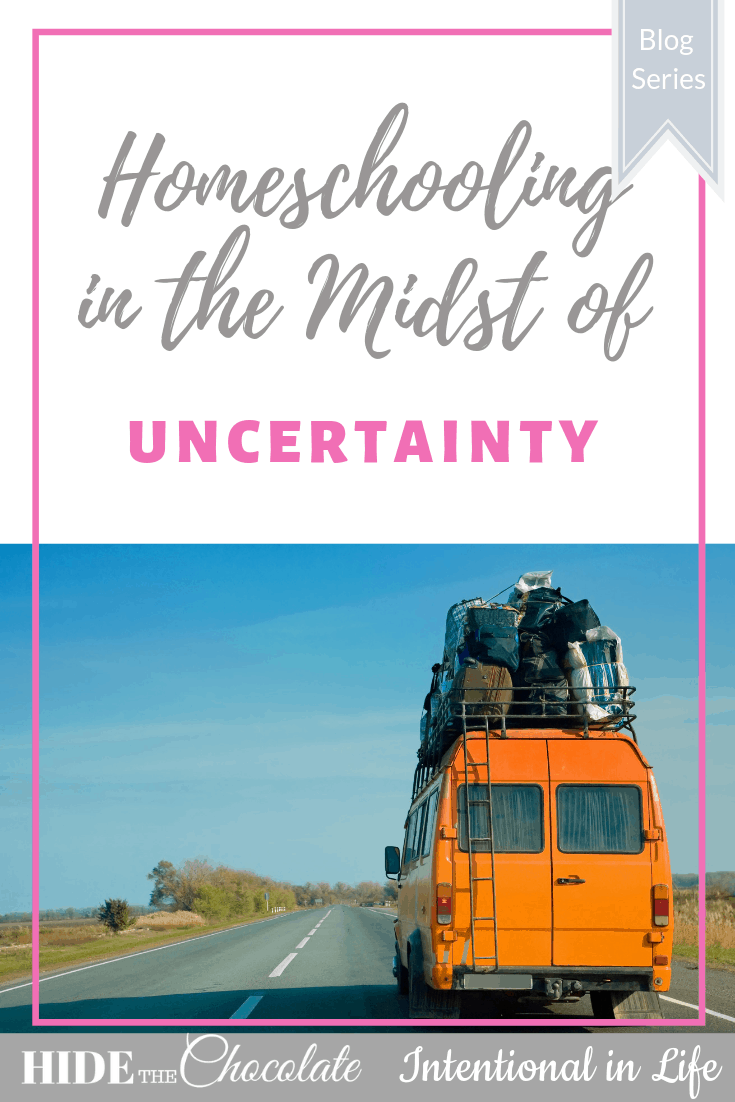 Are you homeschooling during a time of uncertainty? My friend Penney shares encouraging tips on how you can continue to homeschool in times of uncertainty.