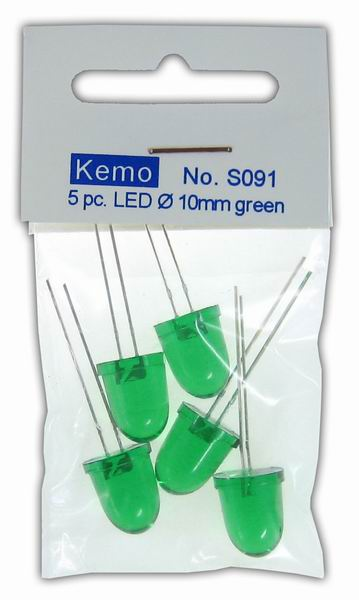 LED Ø 10 mm green approx. 5 pieces